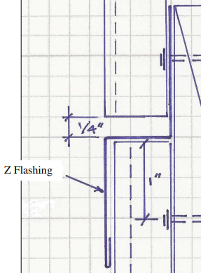 Plywood Siding Z-Flashing