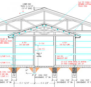 How to Frame a Reverse Gable Porch