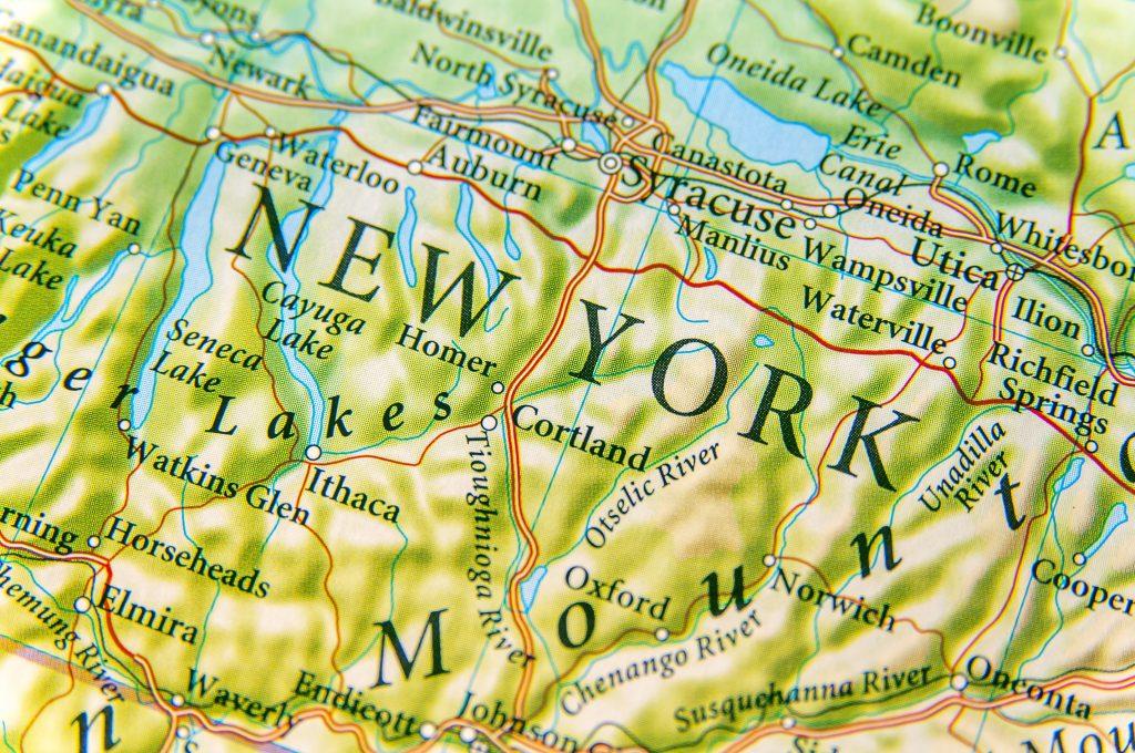 New York on map