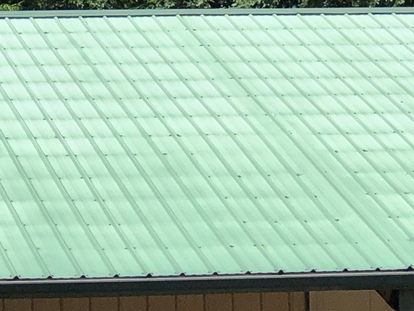 Steel Roofing Fade and Chalk