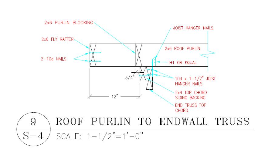 Post Frame Purlin Blocking