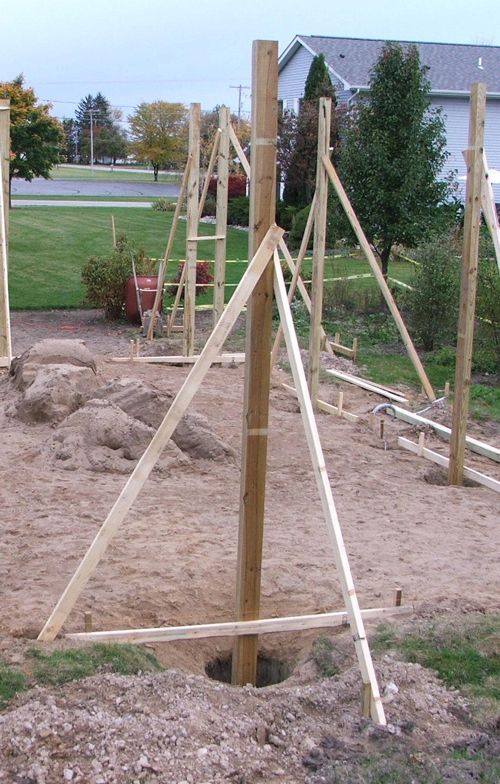 """One-Pour Post Frame Concrete Footings"