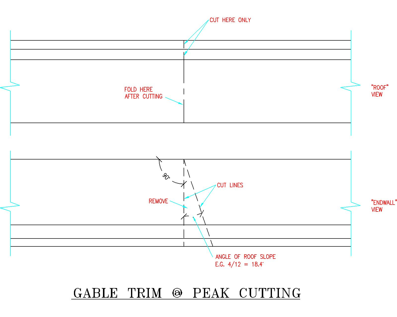 Gable Rake Trim, 24″ oc Framing, and Lap Siding Options